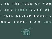 (Just) Love Because You Were First Loved