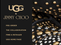 Jimmy Choo + UGG Collaborative Site Launch