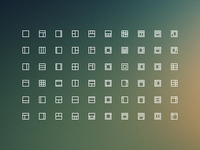 Layouts icons freebie