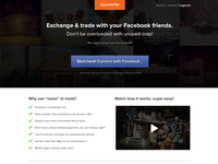 Exchange and trade with Facebook friends