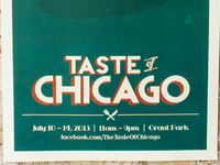 Taste of Chicago Event Poster