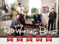 Red Wanting Blue Responsive Webite
