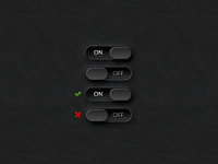 ON/OFF Toggle Switches GUI (PSD)