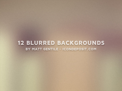 Blurred Backgrounds PSD