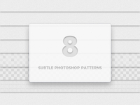 8 Subtle Photoshop Patterns
