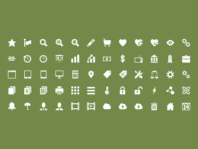 32x32 Icon Set Preview