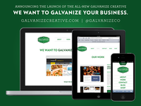 Galvanize Creative Responsive Site Launch
