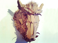 The Boar - cardboard mask