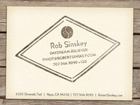 Robert Sinskey Vineyards Biz Cards