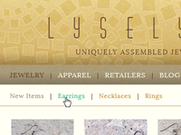 Lyselyse Jewelry - main navs