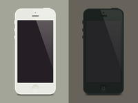 iPhone5 Flat Template
