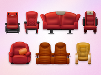 cinema chair icon