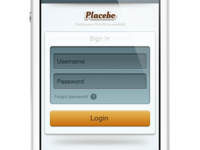 Placebo Login page
