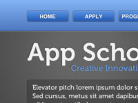 App School Navigation – Colour Alternative