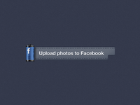 Facebook Photos Upload Button