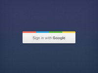 Sigin in with Google Button PSD