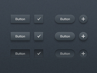 Dark Buttons UI Kit