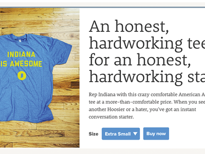 An honest, hardworking tee.