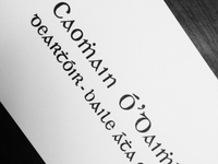 Gaelic business card