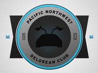 DeLorean club logo