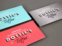 Dottie's Toffee Business Cards