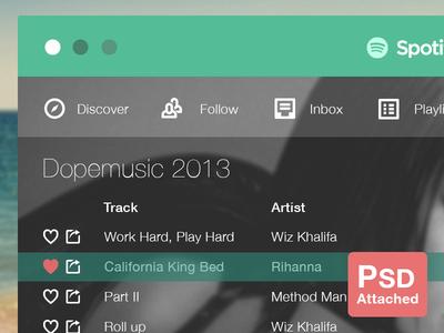 Download PSD Spotify Flat