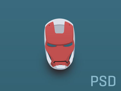 Download PSD Iron Man Flat Helmet