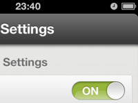 Settings ON.