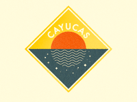 Cayucas Sunset Badge
