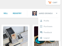 Etsy redesigned project - header