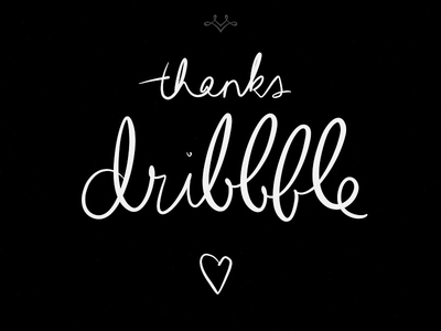 Thanks, Dribbble!