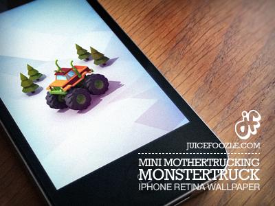 Download Mini Mothertrucking Monstertruck – iPhone Retina Wallpaper