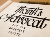 Thanks Advocat for the Dribbble invite !
