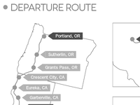 Road Trip Report: Departure Route