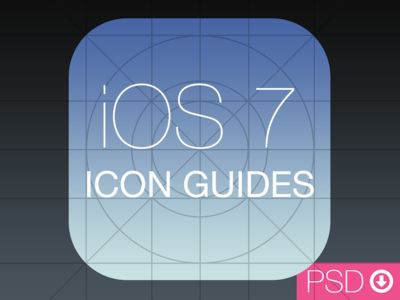 Download iOS 7 Icon Guides PSD