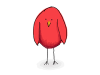red bird on sketch guru