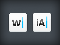Writer icon v2 in 2 flavors.