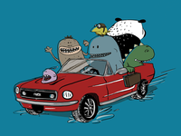 Monsters on a road trip