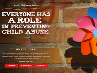 Child Abuse Prevention Parallax Website