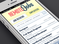 Remote Jobs mobile styles