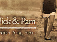 Nick & Pam save the date