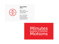 Minutes + Motions Business Card