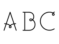 Typeface with a curl