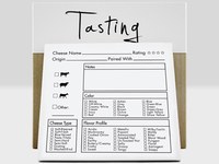 Tasting Kit - Tasting Notes Notepad