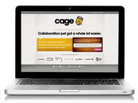 Cage Landing Page on Screen