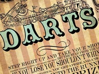 Darts Wedding Poster