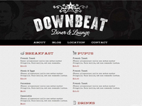 Downbeat Diner website redesign