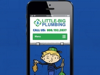 A mobile version of my plumbing site