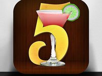 It's 5 O'Clock iPhone App Icon