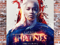 Funkrush Game of Thrones Poster - Daenerys Targaryen